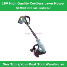 ST2803 18V cordless lawn mower/electric grass trimmer/flexible hand lawnmower/Sier rechargeable trimmer(China)