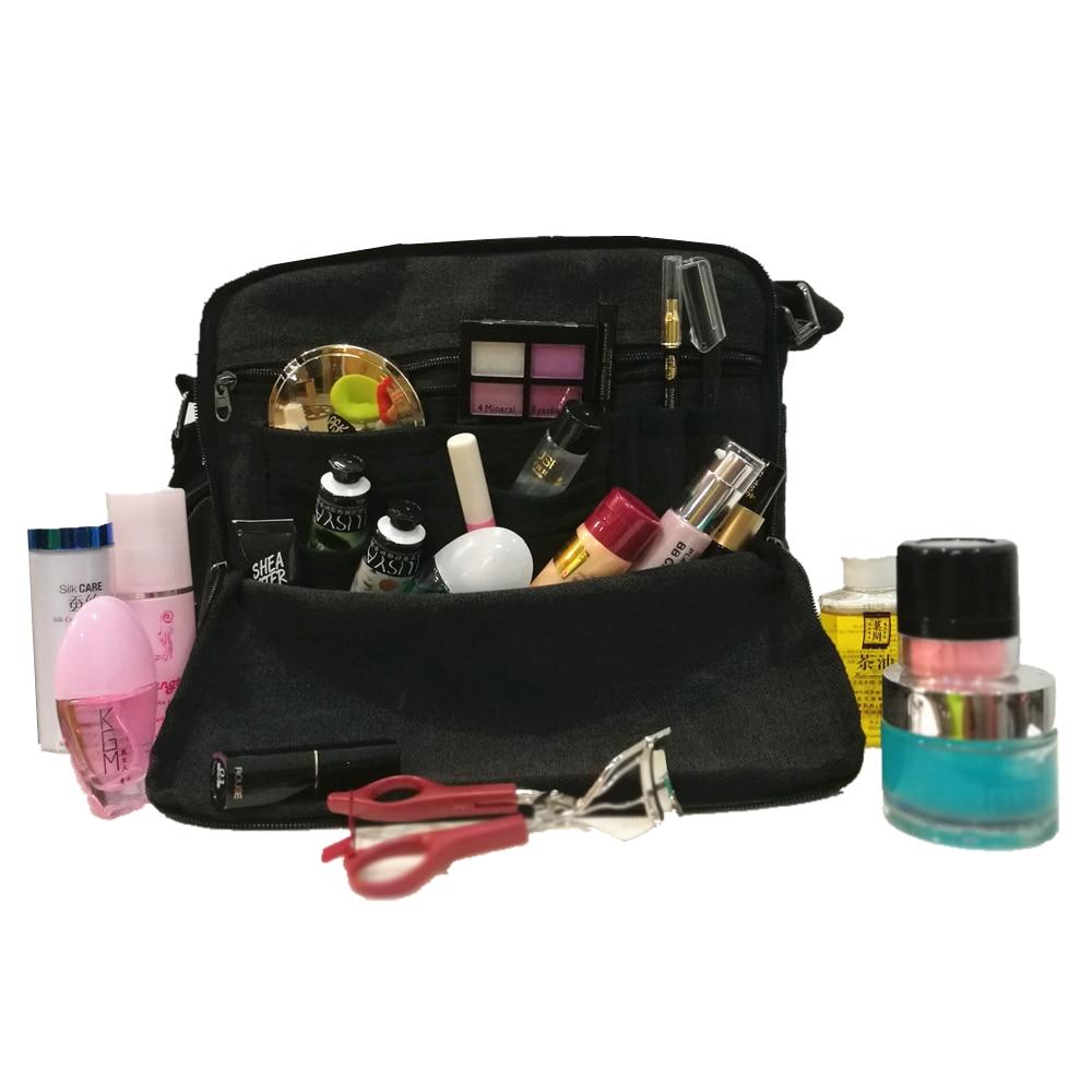 Fashion Canvas Cosmetic Bag Fashion Multi-pocket Makeup Bag Portable Travel Bag Beauty Toiletry Cream Skin Toothbrush Wash Bag<br>