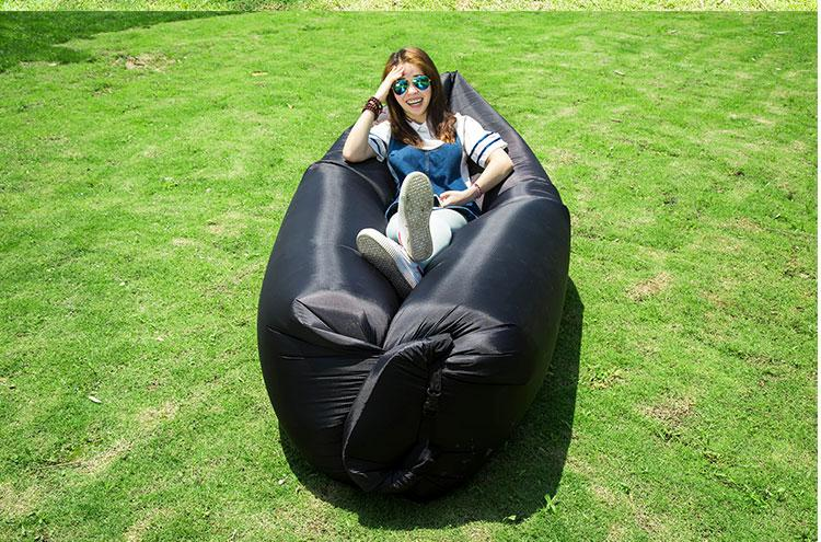 New Product Custom Logo Inflatable Sofa/Air Sofa/Travel Sleeping Bags Outdoor Camping air bean bag chair,outdoor instant beansit<br>