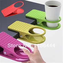 Tea accessories Home Office Desk Table Cup Clip Drink Cup Cans Coffee Mug Holder Folder 0(China)