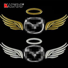 KAWOO 2pcs/lot Angel Wings Car Styling 3D Sticker Car Logo Sticker Auto Sticker Decal Badge DIY Decoration Auto Accessories(China)