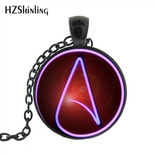 Buy HZ1- MINI-0017 Hot selling Atheist Symbol Pendant Necklace Glass Dome Jewelry Art Photo sweater chain necklace pendant gift for $1.50 in AliExpress store