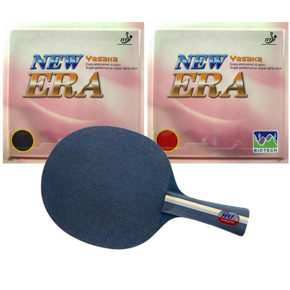 Pro Table Tennis PingPong Combo Racket HRT Blue Crystal with 2x Yasaka ERA-40mm NO ITTF Rubbers Long Shakehand FL<br>