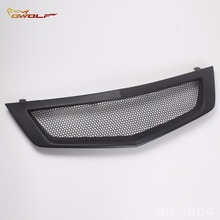 Matt Black Bumper Mesh Front Grill Grille For Acura TSX Accord Euro R 2009 to 2010 SKU 2081037(China)