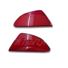 Rear Tail Bumper Side Reflector Cover Trim Red 2pcs For Mazda 2 Demio Hatchback 5 Doors 2015 2016