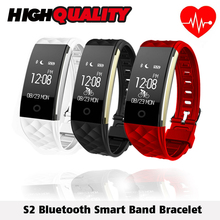 S2 Bluetooth Smart Band Bracelet Waterproof Touch Screen Wristband Heart Rate Monitor Smartband Bracelet For Android IOS Phone(China)