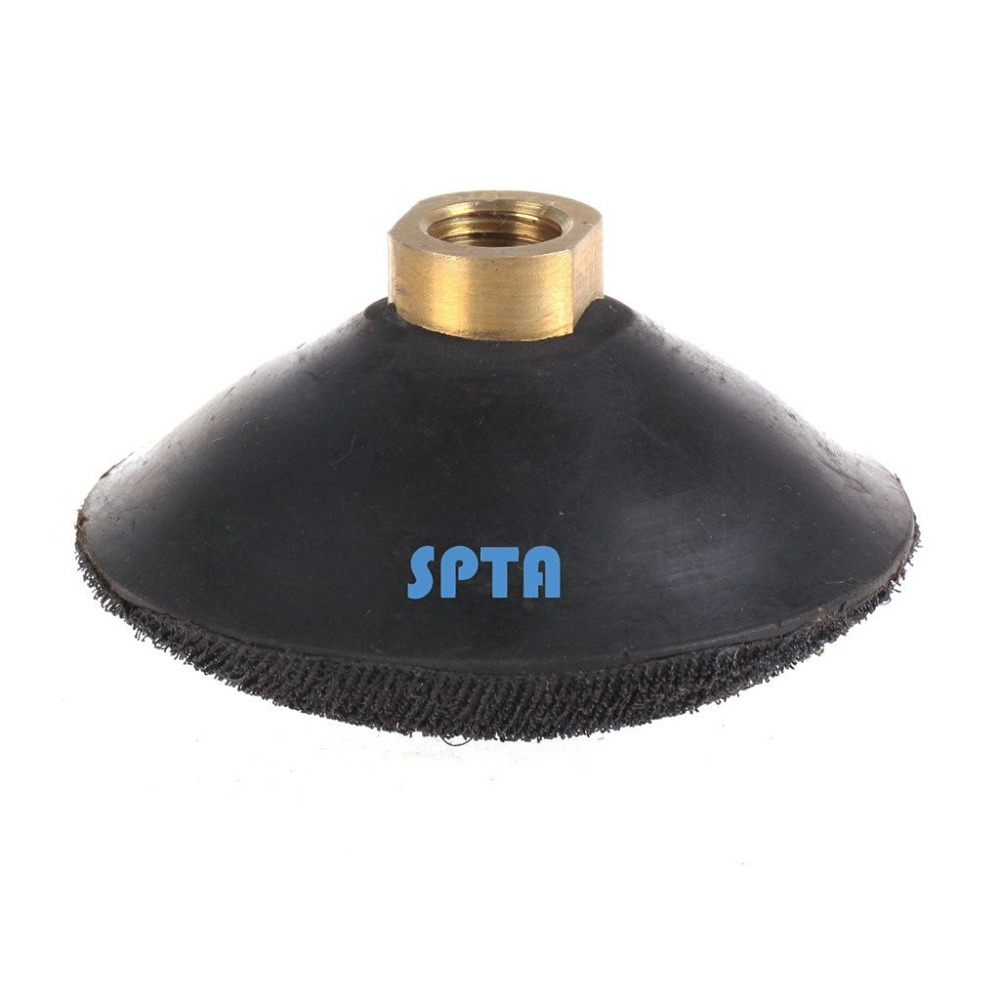 SPTA 1Pc 4 (100mm) Rubber backing pad with Hook &amp; Loop backing pad Arbor For Diamond Wet Polisher And Wet Polisher<br>