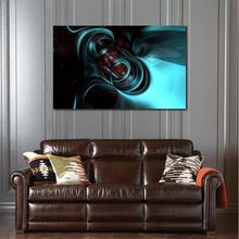 High-tech alloy light form abstraction HD Canvas Print Home decoration Living Room Abstract Wall pictures Art painting(China)