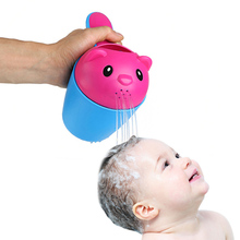 2 colors summer bear kids baby shampoo shield shower cup cap visor hat brands baby bath toys tub bath products care for children(China)