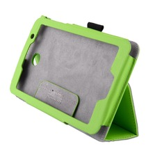 Universal Green Slim Magnetic Leather Stand Case Cover For ASUS MeMO Pad 7 ME176CX ME176C 7-Inch Tablet