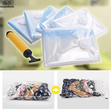 Homdox 6 Pack Vacuum Seal Compressed Organizer Vacuum Storage Bag Space Saver Bag #20-18(China)