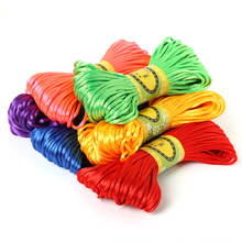 New Arrivals Jewelry Findings 2mm 20M Chinese Knot Cord Rattail Satin Braided String Jewelry findings Beading Rope for DIY craft(China)