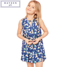 HAYDEN Girls Floral Print Dress Kids Summer Dress Designs 2017 Girls Fashion Trends Sleeveless Dress Girl Clothes for Teenagers