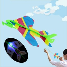 LED Flash Stretch Flash Arrows Aircraft Catapult Flying Toys Helicopter Led Light Kids Light UP Toys