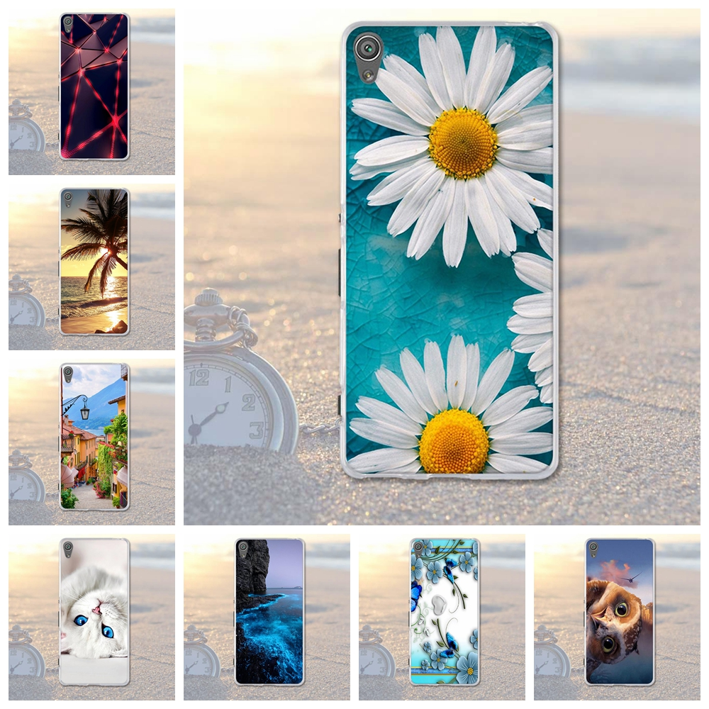 Soft Silicone TPU Cover Case For Sony Xperia XA F3111 F3113 F3115 Fashion Cool Painted Back Cover Coque For Sony Xperia xA Cases(China)