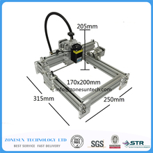 Laseraxe 405nm 5500mW DIY Desktop Mini Laser Engraver Leather Engraving Machine Laser Cutter Etcher Adjustable Laser Power