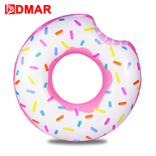 DMAR Inflatable Donut Swimming Ring Giant Pool Float 42inch Swimming Circle Toys Beach Sea Inflatable Mattress for Kids Adult