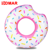 DMAR Inflatable Donut Swimming Ring Giant Pool Float 42inch Swimming Circle Toys Beach Sea Inflatable Mattress for Kids Adult(China)