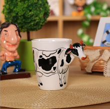 CTDSGW00948 Ceramic coffee milk tea mug 3D animal shape Hand painted Deer Giraffe Cow Monkey Dog Cat Camel Elephant cup