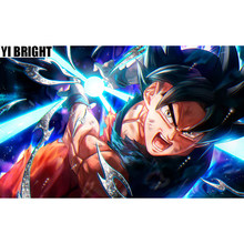 "Square/Round Drill,5D DIY Diamond Painting ""Cartoon Z Warrior Sun Goku"" Embroidery Cross Stitch Cartoon Picture Of Home Decor GT(China)"
