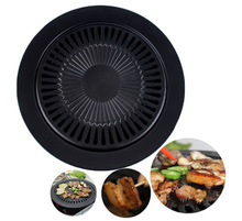Non Stick Universal Griddle Plate BBQ Charcoal Smokeless Portable Baking Trays 32CM Outdoor Barbecue Grill Plates
