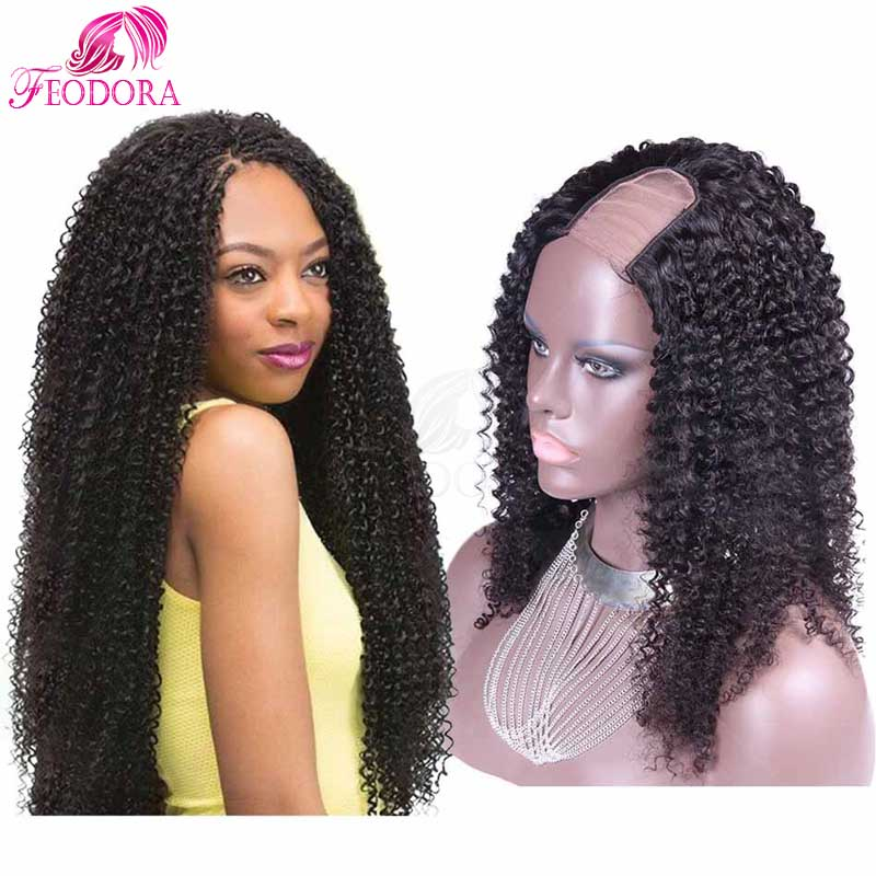 For Black Women U Part Wig Kinky Curly 7A Grade U Part Human Hair Wigs Human Hair Virgin Unprocessed U Part Wig Human Hair<br><br>Aliexpress
