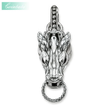 Charm Carrier Dragon Head Trendy Gift For Women & Men, Thomas Style Glam Charm TS 925 Sterling Silver Fashion Jewelry Wholesale