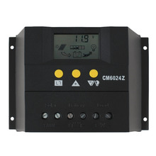 PWM charge mode PY6024Z 60A 12-24V Solar Regulator Solar Charge Controller LCD Solar Genetator Voltage Control