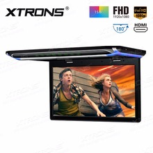 "XTRONS 15.6"" Monitor 1080P Video FHD Digital TFT Screen Wide Screen Ultra-thin Car Roof Mounted DVD Player HDMI(China)"