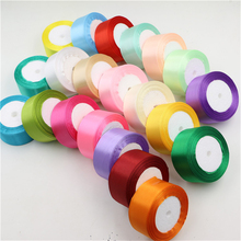 40mm silk cotton satin ribbons 25 yards/roll polyester silk pure multicolor wedding party decor gift packing lace ribbons