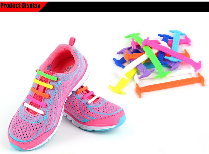 AFashion Store VIP Link Wholesale Shoelace Adult Athletic Running No Tie Shoelaces Elastic Silicone Shoe Lace Children Shoelaces (4)