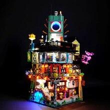 Led Light Lego 70620 Ninjago City Masters Spinjitzu Building Bricks Blocks Movie Toys Gifts (only light Battery box)
