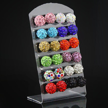12pairs Stud Earring Set 10mm Shamballa Brand Earrings Micro Disco Ball Shamballa Crystal Stud Earring For Women Fashion Jewelry