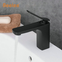 Beelee Newly Free Shipping Solid Brass Oil Rubbed Bronze Bathroom Sink Basin Faucet Black Mixer Tap Deck Mounted BL6001(China)