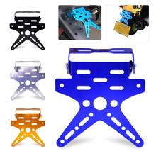 beler New Adjustable Number License Plate Mount Holder Bracket Motorcycle Aluminum Alloy For Scooter Cruiser Chopper Kawasaki(China)