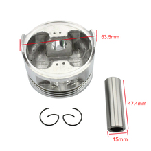 Goofit 63.5mm Piston 15mm for CG 200cc ATV, Dirt Bike & Go Kart Accessory motorcycle piston accessory K082-024
