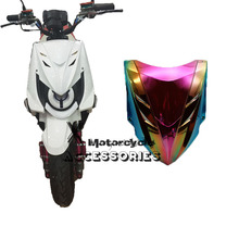 Motorcycle Front Headlight Headlamp Head Light Lamp Mask Cover Shield Large Carbon Look For YAMAHA Zuma BWS X-Over X 125 YW125(China)