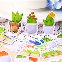 36pcs Creative cute self-made Green plant stickers / scrapbooking stickers /decorative sticker /DIY craft photo albums