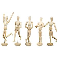 20Cm Wooden Human Model Diy Limbs Manikin Body Mannequin Movable Toy Artist Sketching Hand Blockhead Puppet Craft Home Decor 3(China)
