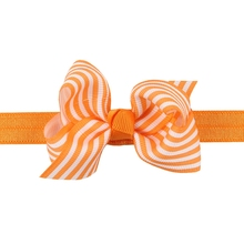 Striped Big Ribbon Bows Handmade Soft Hair Bands Baby Headbands Hair Accessories for Children Girls Headwear