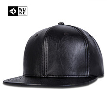 Simple Plain black snapback hats Nice Leather Baseball Caps Snapbacks Hip Hop Music Fashion Gorras Bone aba reta For Men Women