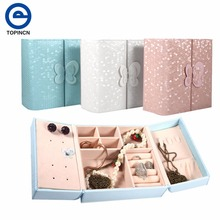 Jewelry storage Box Makeup Case Cosmetics Beauty Casket organizer  Ring Earrings Necklace Container Birthday Gift Creative