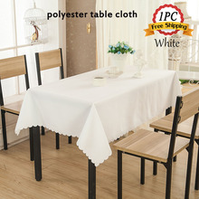 Lots of Size 1PC Polyester Seamless Decor Table Cloth for Wedding Banquet Party Table Cover Restaurant Tablecloth Hotel Linens