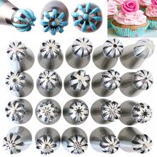 20Pcs Stainless Sphere Ball Icing Piping Nozzles Pastry Tips Household Kitchen Bakery Cake Baking Decorative Gadgets Bakeware