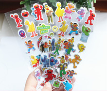 4 sheets/set sesame street 3D stickers for kids Home wall decor on laptop cute Gifts for the children in the party supplies