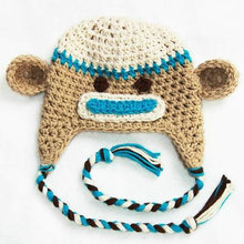 newborn baby monkey hat baby boy animal caps free shipping