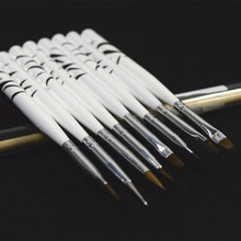 8pcs Practice Manicure Pedicure UV Gel Polish Acrylic Nail Art Brush Sets Dotting Pen Painting Drawing Care Styling Tools NAO22(China)