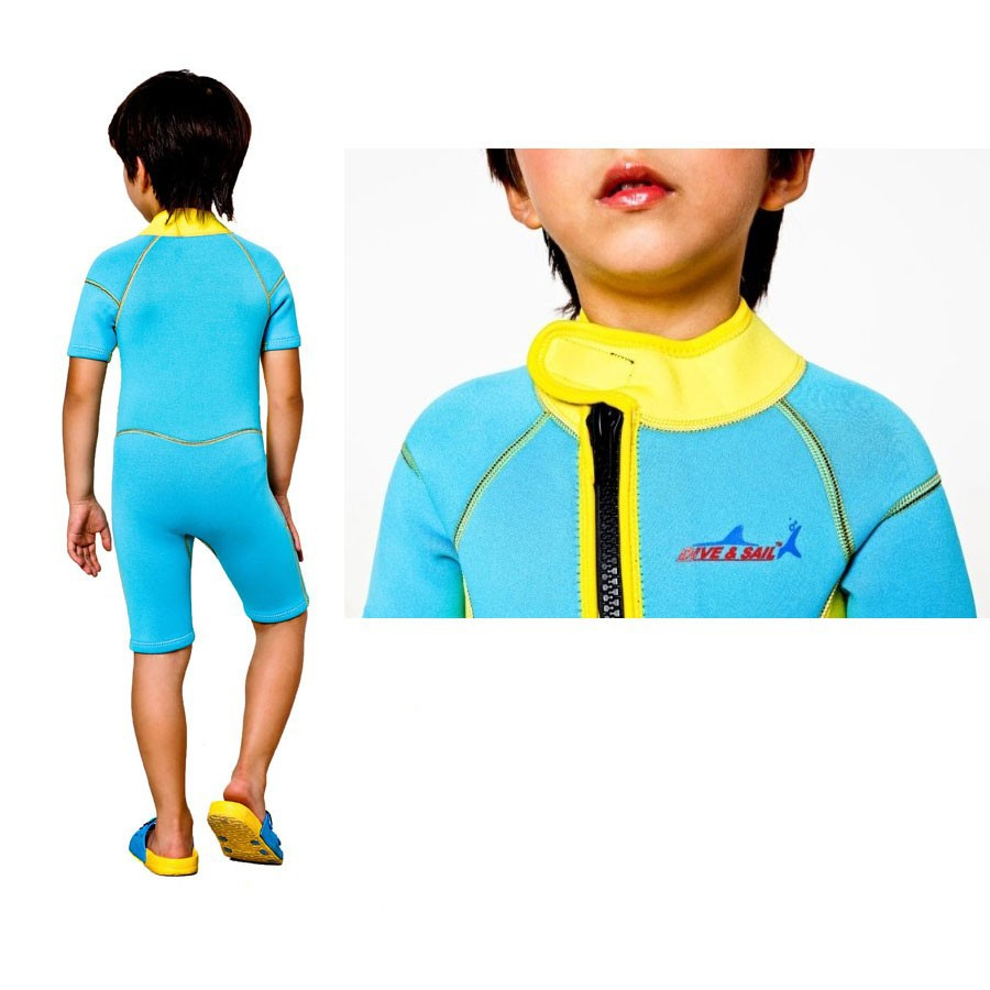WDS-8002-14-Children-Wetsuit-2.5mm-Neoprene-Thick-Swimsuit-for-Winter-Autumn-Spring-Shorty-Swimwear