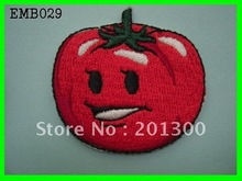 Tomato embroidered patches iron/sew on t shirt