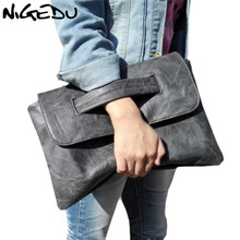 Buy NIGEDU brand design women Clutches large PU leather Crossbody Bags women Shoulder messenger bag Simple big Ladies handbag for $17.98 in AliExpress store